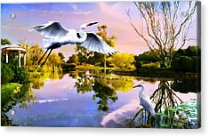 Heavens Lake Acrylic Print