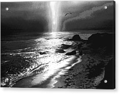 Heavens Light Black And White Acrylic Print