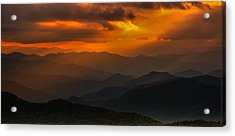 Heaven's Light On The Blue Ridge Parkway Acrylic Print