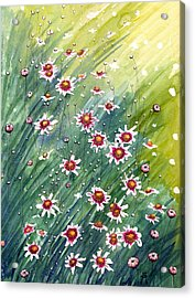 Acrylic Print featuring the painting Coreopsis by Katherine Miller