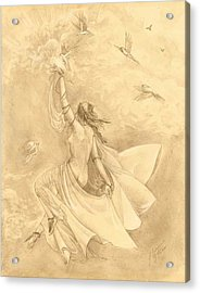 Heavenward Acrylic Print by Julianna Ziegler