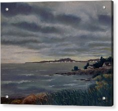 Heavy Clouds Over Rye Acrylic Print by Marcus Moller