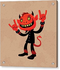 Heavy Metal Devil Acrylic Print by John Schwegel