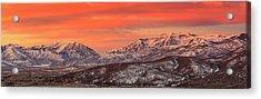 Heber Valley Sunrise Panorama. Acrylic Print