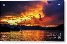 Hebgen Lake Sunset Acrylic Print