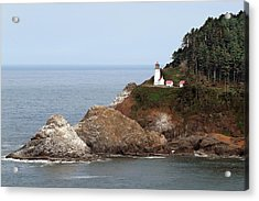 Heceta Head Lighthouse - Oregon's Scenic Pacific Coast Viewpoint Acrylic Print