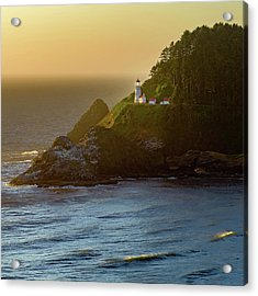Heceta Head Lighthouse At Sunset Acrylic Print