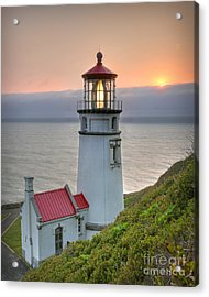 Heceta Lighthouse At Sunset Acrylic Print