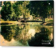 Heckscher Park Pond, Huntington Ny Acrylic Print