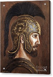 Acrylic Print featuring the painting Hector by Arturas Slapsys