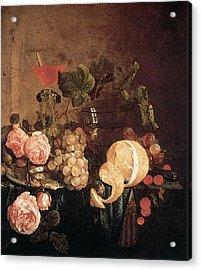 Heem Jan Davidsz De Still Life With Flowers And Fruit Acrylic Print