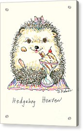 Hedgehog Heaven Acrylic Print by Denise Fulmer
