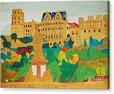 Heidelberg Castle And Minerva Acrylic Print by Michaela Bautz