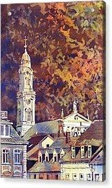 Acrylic Print featuring the painting Heidelberg Evening by Ryan Fox