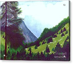 Acrylic Print featuring the painting Heidi's Place by Patricia Griffin Brett