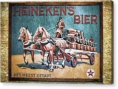 Heineken's Beer The Most Tapped Acrylic Print by Joan Carroll