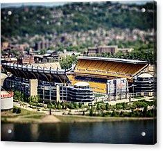 Heinz Field Pittsburgh Steelers Acrylic Print by Lisa Russo