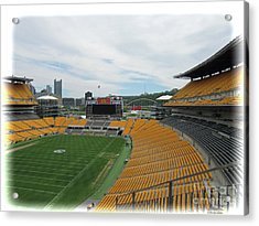 Heinz Stadium With Pittsburgh Skyline Acrylic Print