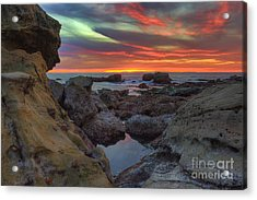 Acrylic Print featuring the photograph Heisler Park Tide Pools by Eddie Yerkish