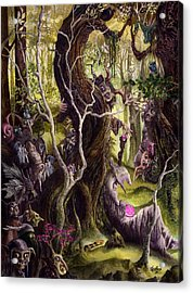 Acrylic Print featuring the painting Heist Of The Wizard's Staff by Curtiss Shaffer