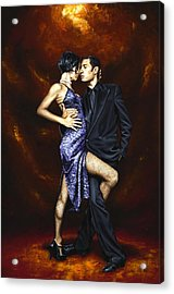Held In Tango Acrylic Print by Richard Young