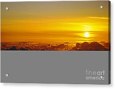 Heleakala Sunrise Acrylic Print by Stan and Anne Foster