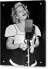 Helen Forrest Singing For The G.i.s Acrylic Print