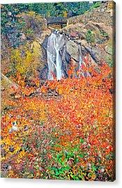 Helen Hunt Falls Autumn V Bridge Acrylic Print