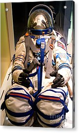 Helen Sharman's Spacesuit Acrylic Print