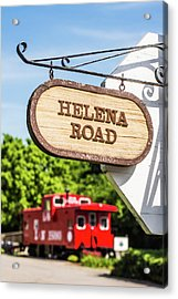 Acrylic Print featuring the photograph Helena Road Sign by Parker Cunningham