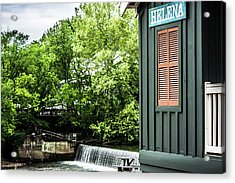 Acrylic Print featuring the photograph Helena Sign By Buck Creek by Parker Cunningham