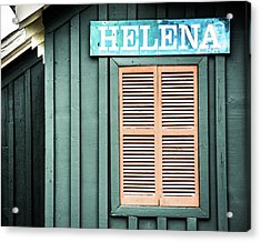 Acrylic Print featuring the photograph Helena Sign On A Spring Day by Parker Cunningham