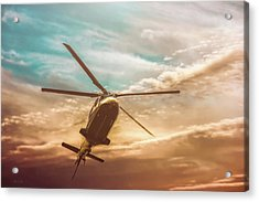 Helicopter Acrylic Print by Bob Orsillo