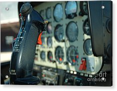 Helicopter Cockpit Acrylic Print