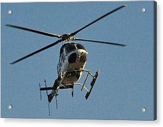 Helicopter On Final Approach  Acrylic Print by Bill Perry