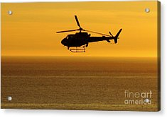 Helicopter Sunset Acrylic Print