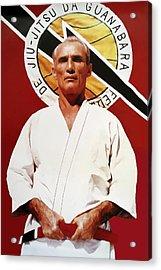 Helio Gracie - Famed Brazilian Jiu-jitsu Grandmaster Acrylic Print by Daniel Hagerman