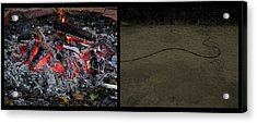Hell Acrylic Print by James W Johnson