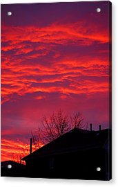 Acrylic Print featuring the photograph Hell Over Ontario by Valentino Visentini