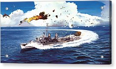 Hell Over The Hadley Acrylic Print by Marc Stewart