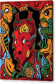 Acrylic Print featuring the digital art Hell by Sotuland Art