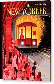 Hell Train Acrylic Print