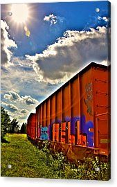 Hell Train Acrylic Print by William Wetmore
