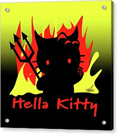 Hella Kitty Acrylic Print
