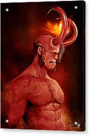 Hellboy Acrylic Print by Jason Longstreet