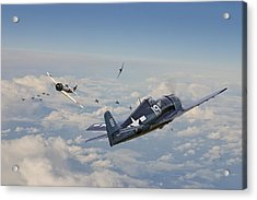 Hellcat F6f - Duel In The Sun Acrylic Print