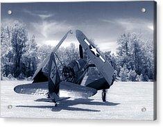Helldiver Rear Duo Tone Acrylic Print