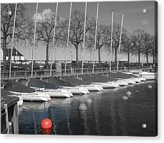 Hellerup Marina Acrylic Print by Michael Canning
