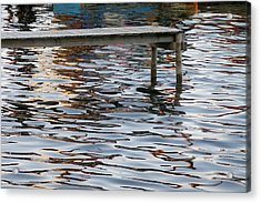 Helleruphavn Jetty Acrylic Print by Michael Canning