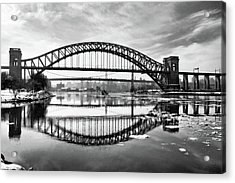 Hellgate Full Reflection Acrylic Print